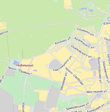 Карта Киева Киевской области